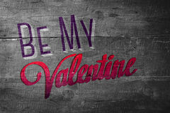 Composite image of be my valentine Stock Images