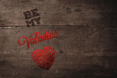 Composite image of be my valentine Royalty Free Stock Photos