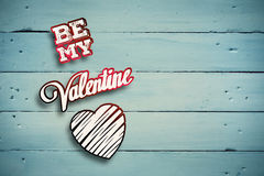 Composite image of be my valentine Stock Photography