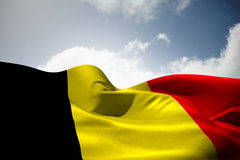 Composite image of belgium flag waving Royalty Free Stock Photos