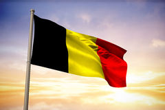 Composite image of belgium national flag Royalty Free Stock Photos