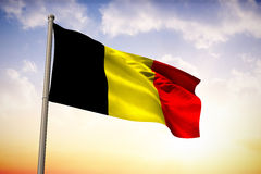 Composite image of belgium national flag Stock Images