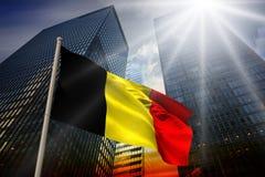 Composite image of belgium national flag Stock Photos