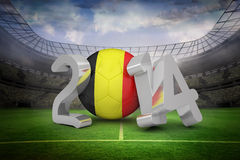 Composite image of belgium world cup 2014 Royalty Free Stock Photography