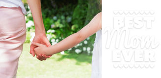 Composite image of best mom ever Royalty Free Stock Photography