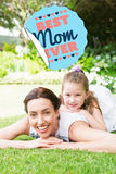 Composite image of best mom ever Royalty Free Stock Photo