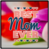 Composite image of best mom ever Royalty Free Stock Image