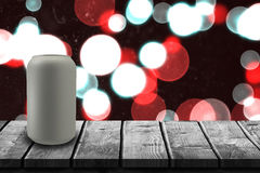 Composite image of beverage can against white background 3d Royalty Free Stock Image