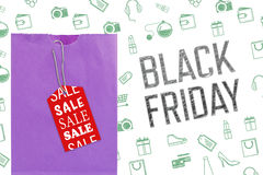Composite image of black friday advert Stock Photo