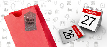 Composite image of black friday advert Stock Images