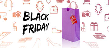 Composite image of black friday advert Royalty Free Stock Photography
