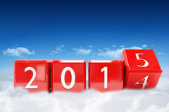 Composite image of 2015 blocks Royalty Free Stock Image