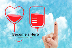 Composite image of blood donation Royalty Free Stock Photos