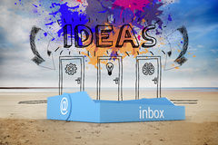 Composite image of blue inbox Royalty Free Stock Photos