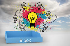Composite image of blue inbox Royalty Free Stock Images