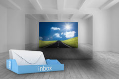 Composite image of blue inbox Royalty Free Stock Photography