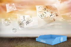 Composite image of blue inbox Stock Photography