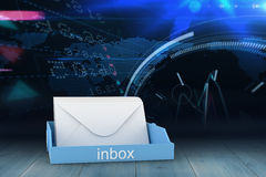 Composite image of blue inbox Stock Images