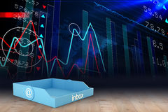 Composite image of blue inbox Royalty Free Stock Image