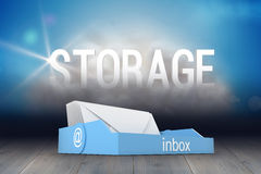 Composite image of blue inbox Royalty Free Stock Photo