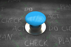 Composite image of blue push button Stock Images