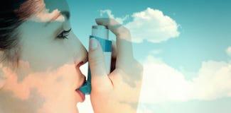 Composite image of blue sky Stock Photos