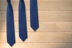 Composite image of blue tie Stock Photos