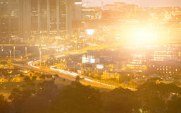 Composite image of blurry animated flare Royalty Free Stock Photography