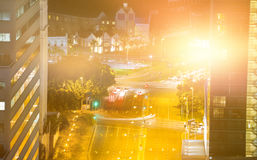 Composite image of blurry animated flare Royalty Free Stock Image