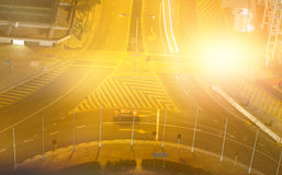 Composite image of blurry animated flare Royalty Free Stock Photo