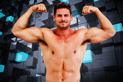 Composite image of bodybuilder Royalty Free Stock Images