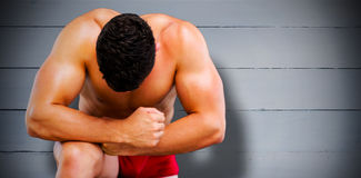 Composite image of bodybuilder posing Royalty Free Stock Images