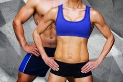 Composite image of bodybuilding couple Stock Image