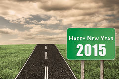 Composite image of 2015 in bold grey Royalty Free Stock Image