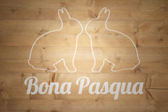 Composite image of bona pascua Royalty Free Stock Image