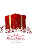Composite image of border. Border against merry christmas Royalty Free Stock Images
