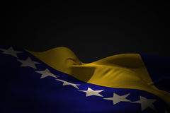 Composite image of bosnia flag waving Royalty Free Stock Photography