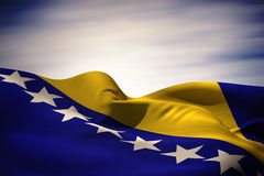 Composite image of bosnia flag waving Stock Images