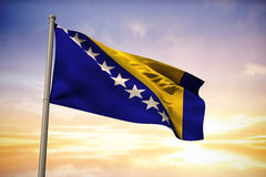 Composite image of bosnia national flag Stock Images