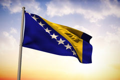 Composite image of bosnia national flag Royalty Free Stock Photo