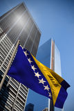 Composite image of bosnia national flag Royalty Free Stock Image