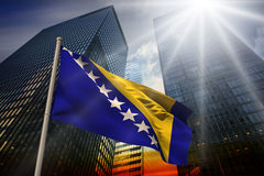 Composite image of bosnia national flag Royalty Free Stock Photography