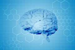 Composite image of brain Royalty Free Stock Image