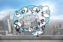 Composite image of brainstorm and cloud computing doodle Royalty Free Stock Photo