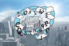 Composite image of brainstorm and cloud computing doodle Royalty Free Stock Photography