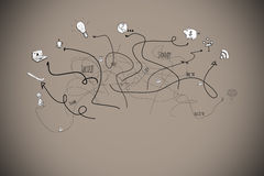 Composite image of brainstorm doodle with arrows Royalty Free Stock Images