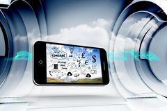 Composite image of brainstorm on smartphone screen Stock Images