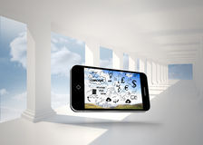 Composite image of brainstorm on smartphone screen Stock Photography
