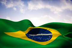 Composite image of brazil flag waving Stock Photography