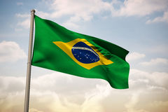 Composite image of brazil national flag Stock Images